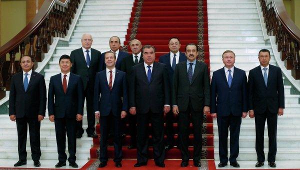 Заседание Совета глав правительств СНГ в Душанбе