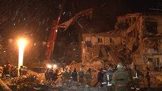 Спасатели под завалами искали выживших на месте взрыва дома под Хабаровском