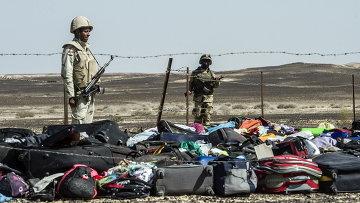 Египетские военные на месте крушения