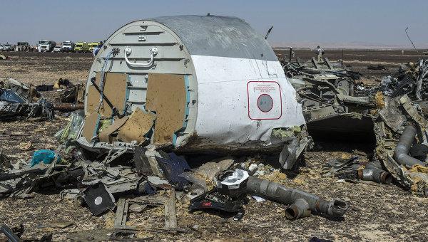 Обломки самолета Airbus A321 авиакомпании Когалымавиа в Египте. Архивное фото