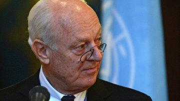 Специальный посланник ООН по Сирии Стаффан де Мистур. Архивное фото