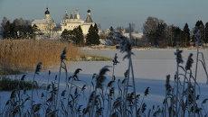Вид на Ферапонтов монастырь в селе Ферапонтово Вологодской области. Архивное фото