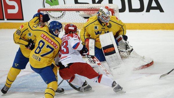 Хоккей. Кубок Карьяла. Матч Россия - Швеция