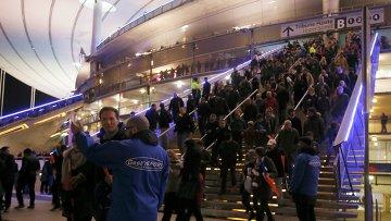 Ситуация у стадиона Stade de France, где прогремели взрывы