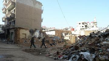Бойцы САА в пригороде Дамаска