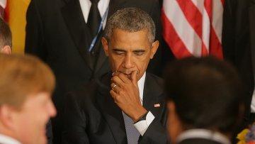 Президент США Барак Обама на официальном завтраке в ООН. Архивное фото