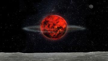 Так художник представил себе Лунуи Землю на ранних этапах своей жизни