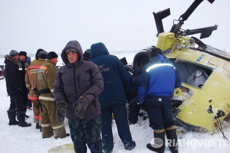 Крушение вертолета Ми-8 в Красноярском крае