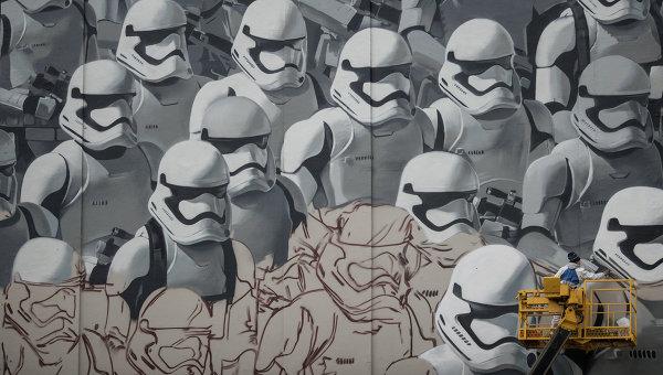 Граффити по мотивам фильма Звездные войны. Архивное фото