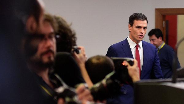 Лидер Испанской социалистической рабочей партии (ИСРП) Педро Санчес