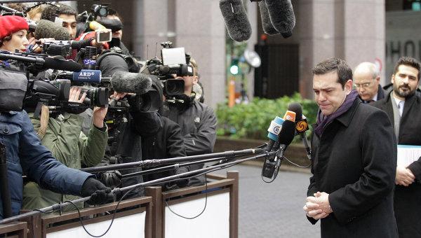Премьер-министр Греции Алексис Ципрас прибывает на саммит ЕС - Турция. Брюссель