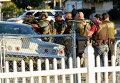 Полиция на месте стрельбы в Сан-Бернадино, Калифорния