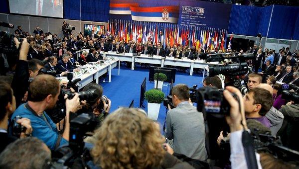 Дипломаты на встрече СМИД ОБСЕ в Белграде