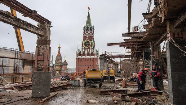 Снос 14-го административного корпуса Московского Кремля. Архивное фото