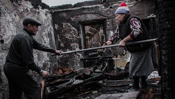 Последствия обстрелов Донецка, архивное фото
