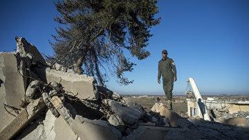 Христианские деревни в провинции Эль-Хасаке на севере-востоке Сирии, разрушенные боевиками ИГ. Архивное фото
