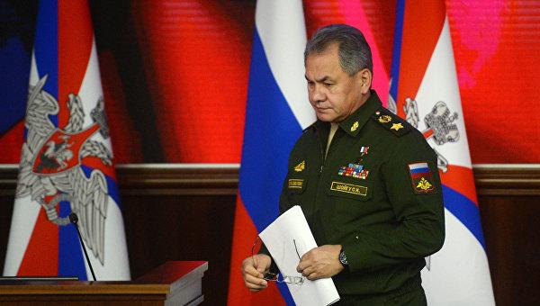 Министр обороны РФ Сергей Шойгу на расширенном заседании коллегии Министерства обороны РФ