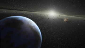 Так художник представил астероидный пояс в Солнечной системе. Архивное фото