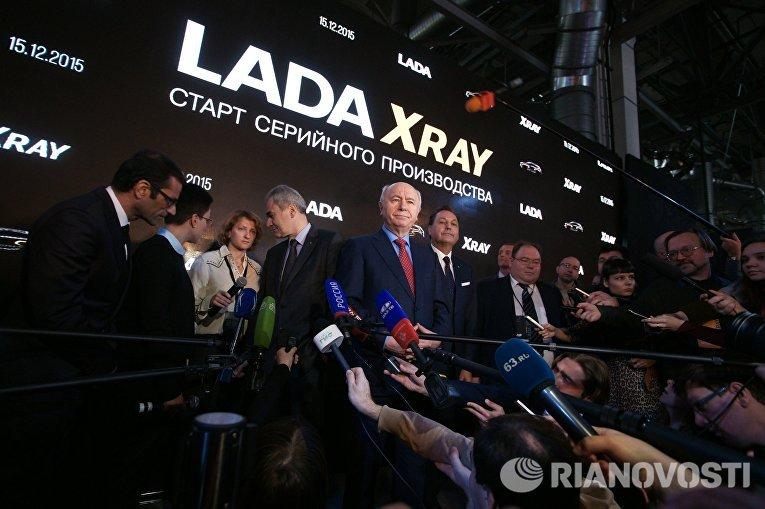 Губернатор Самарской области Николай Меркушкин на торжественной церемонии запуска производства новой модели АвтоВАЗа LADA X-Ray в Самаре
