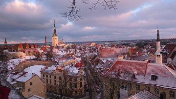 Таллин, вид на старый город со смотровой площадки. Архивное фото