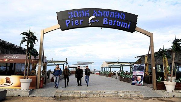 Центральный пирс Батумского бульвара Pier Batumi в городе Батуми