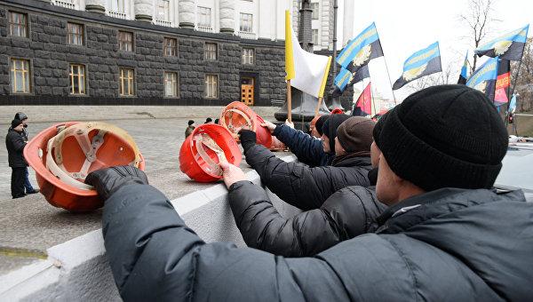 Украинские шахтеры. Архивное фото