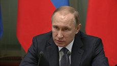 Путин оценил работу министров и поздравил их с наступающим Новым годом