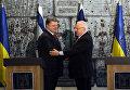 Президент Израиля Реувен Ривлин и президент Украины Петр Порошенко. Иерусалим. Декабрь 2015