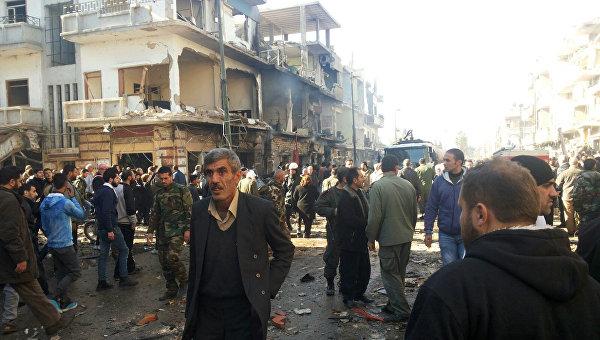 Теракт в сирийском городе Хомс