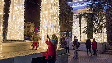 Рождественская иллюминация в Крыму