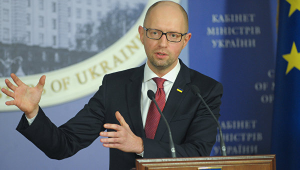 Пресс-конференция премьер-министра Украины А. Яценюка. Архивное фото