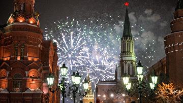 Празднование Нового года в Москве. Архивное фото