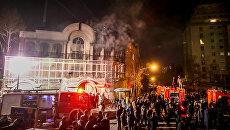Акции протеста у посольства Саудовской Аравии в Тегеране. Архивное фото
