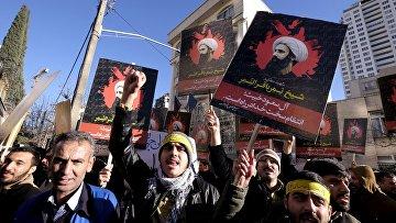 Протесты в Тегеране у посольства Саудовской Аравии в Иране, 3 января 2016