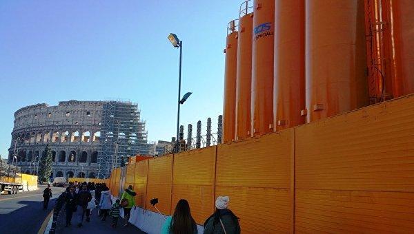 Строительство метро у Колизея заморожено на неопределенный срок