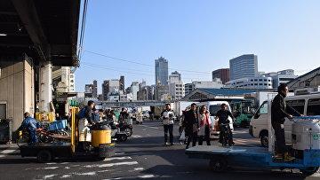 Рынок Цукидзи в Токио, Япония. Архивное фото