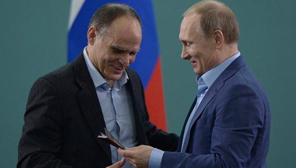 Президент РФ В. Путин встретился с членами сборной команды РФ по дзюдо