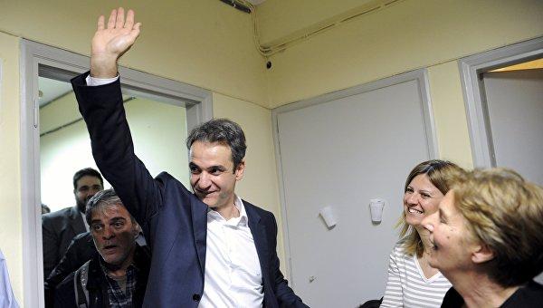 Глава греческой оппозиционной партии Новая демократия Кириакос Мицотакис