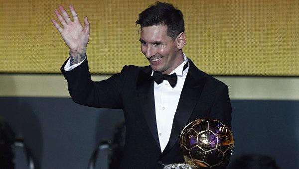 Футболист Лионель Месси стал обладателем премии лучшему игроку 2015 года по версии ФИФА — Золотого мяча