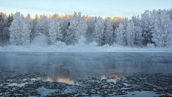 Река Шуя в морозный день. Архивное фото