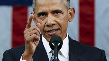 Барак Обама в конгрессе США. Архивное фото