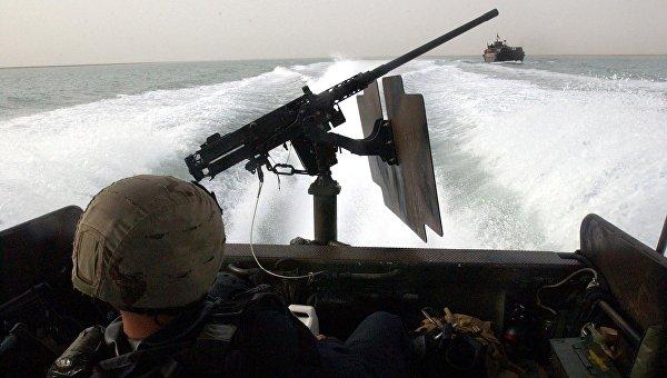 На борту катера Riverine Command Boat американских ВМС. Архивное фото