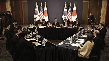 Трехсторонние переговоры представителей США, Японии и Южной Кореи в Сеуле