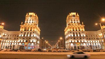 Ночной вид Минска, архивное фото