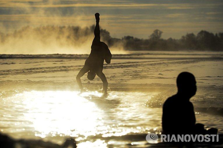 Новгородский клуб любителей зимнего плавания в Великом Новгороде
