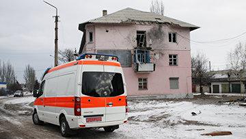 Автомобиль скорой помощи. Донецкая область. Архивное фото