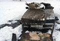 Автомобиль, найденый сотрудниками МЧС во время водолазной тренировки в реке Енисей на Абаканской протоке Красноярска