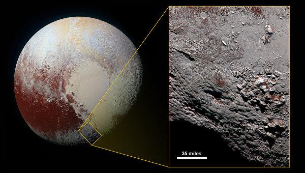 НАСА опубликовало снимок потенциального криовулкана на Плутоне