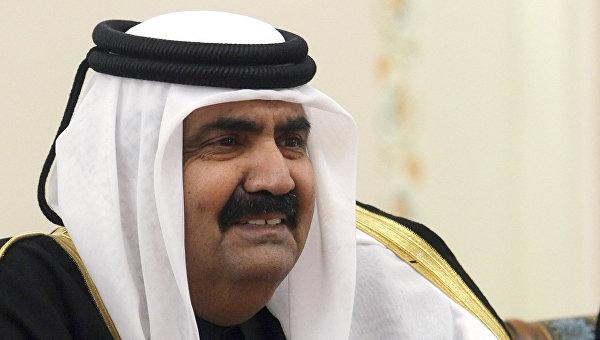 Эмир Государства Катар Хамад Бин Халиф Аль-Тани. Архивное фото