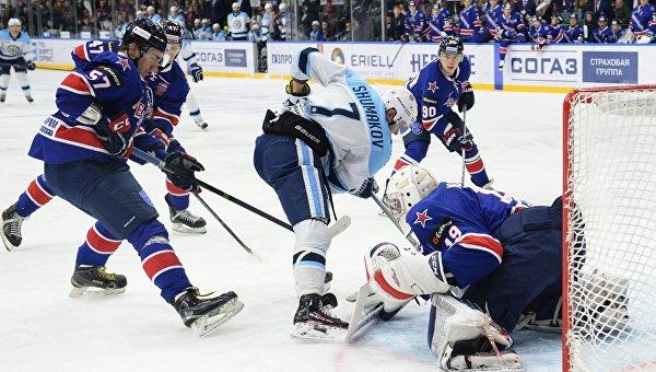 Хоккей. КХЛ. Матч СКА - Сибирь